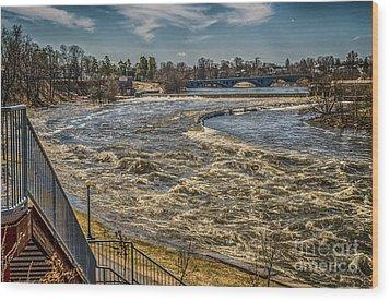 Oswegatchie River Flooding Wood Print