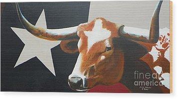 O'texas Wood Print by David Ackerson