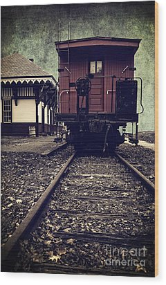 Other Side Of The Tracks Wood Print by Edward Fielding