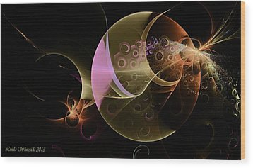 Other Worlds Wood Print by Linda Whiteside