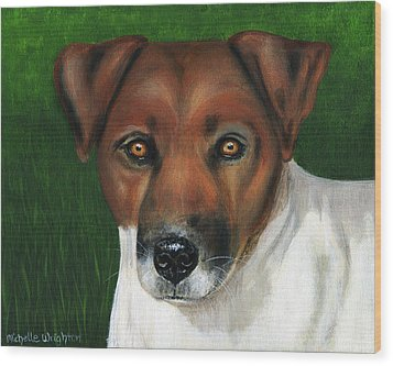 Otis Jack Russell Terrier Wood Print by Michelle Wrighton