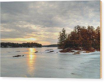 Otis Reservoir Sunrise No. 2 Wood Print