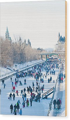 Ottawa Rideau Canal Wood Print by Cheryl Baxter