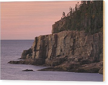 Otter Cliff At Dawn Wood Print by Juergen Roth