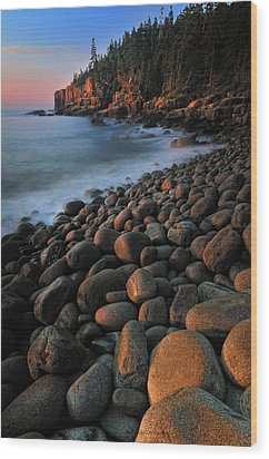 Otter Cliffs - Acadia National Park Wood Print by Thomas Schoeller