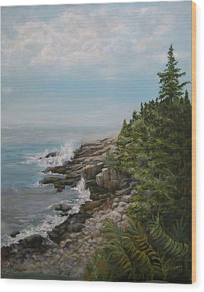Otter Point - New England Wood Print