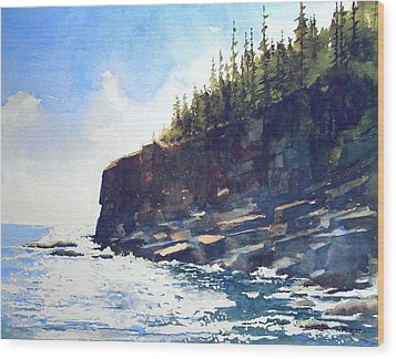 Otter Point Wood Print