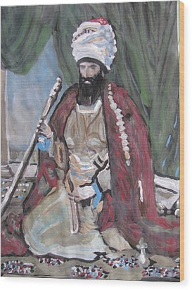 Wood Print featuring the painting Ottoman Empire by Vikram Singh