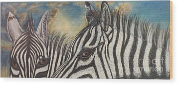 Our Eyes Are The Windows To Our Souls Wood Print by Kimberlee Baxter