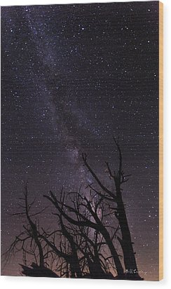 Our Galaxy Wood Print by Bill Cantey
