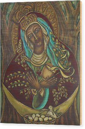 Our Lady Gate Of Dawn Wood Print by Marie Howell Gallery