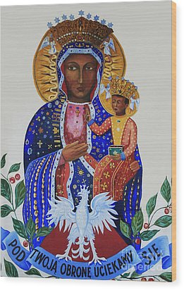 Our Lady Of Czestochowa Wood Print by Barbara McMahon