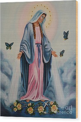 Our Lady Of Grace I Wood Print