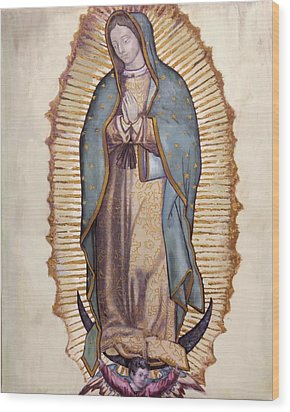 Our Lady Of Guadalupe Wood Print by Richard Barone