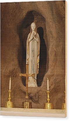 Our Lady Of Lourdes Wood Print by Philip Ralley