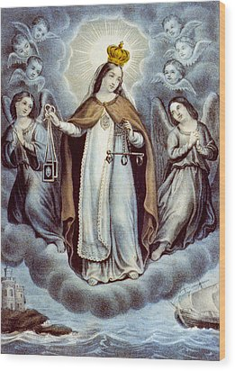 Our Lady Of Mercy Circa 1856  Wood Print by Aged Pixel