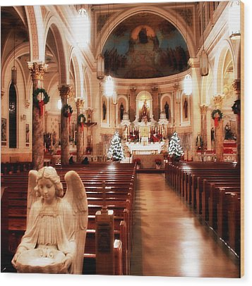 Wood Print featuring the photograph Our Lady Of Mount Carmel Church At Christmas by Aurelio Zucco