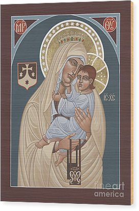 Wood Print featuring the painting Our Lady Of Mt. Carmel 255 by William Hart McNichols