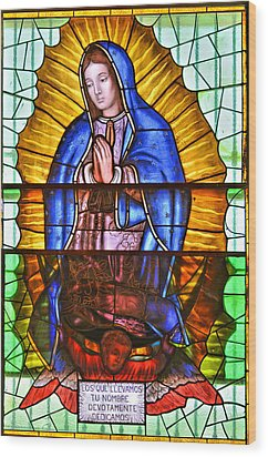 Our Lady Of Peace Wood Print by Christine Till