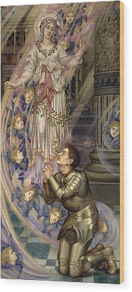 Our Lady Of Peace Wood Print by Evelyn De Morgan