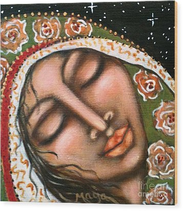 Our Lady Of Peace Wood Print by Maya Telford