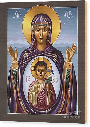 Our Lady Of The New Advent Gate Of Heaven 003 Wood Print by William Hart McNichols
