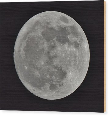 Our Moon Wood Print by Thomas  MacPherson Jr