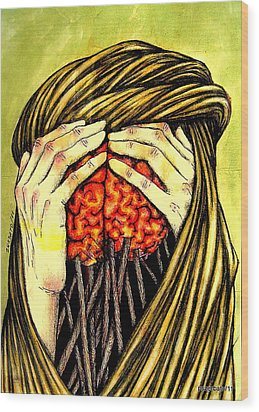 Our Torments Does Not Comes From Outside Are Spiked In Our Memory Wood Print by Paulo Zerbato