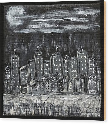 Our Town Wood Print by Gary Brandes
