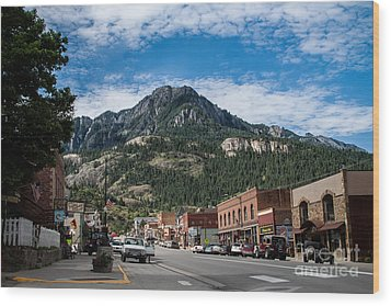 Ouray Main Street Wood Print by Jim McCain