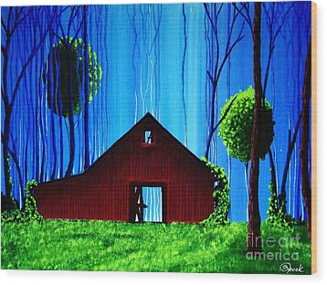 Out Behind The Barn II Wood Print by Kyle  Brock