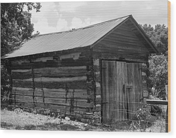 Wood Print featuring the photograph Out Building At The Hermitage by Robert Hebert