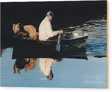 Out For A Boat Ride Wood Print by Susan Crossman Buscho