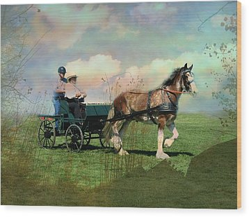 Out For A Trot Wood Print by Shirley Sirois