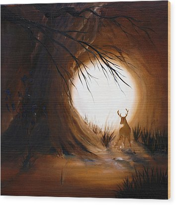 Out For The Hunt Wood Print by David Kacey