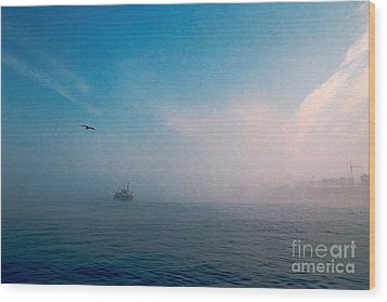 Out Morning At Sea  Wood Print by Evgeniy Lankin