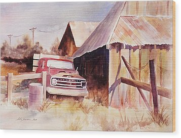 Wood Print featuring the painting Out Of Service by John  Svenson