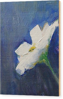Wood Print featuring the painting Out Of The Blue by Jane  See