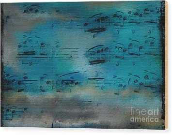 Wood Print featuring the digital art Out Of The Blue by Lon Chaffin