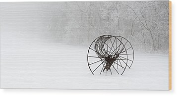 Out Of The Mist A Forgotten Era II Wood Print by Greg Reed