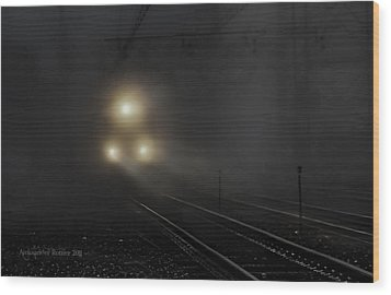 Out Of The Night #1 Wood Print by Aleksander Rotner