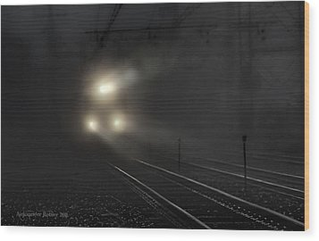 Out Of The Night #2 Wood Print by Aleksander Rotner