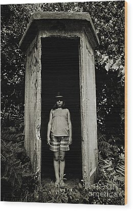 Out Of The Shadows Wood Print by Mark Miller