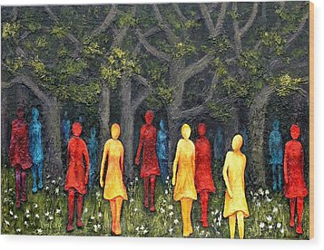 Out Of The Woods Wood Print by Linda Carmel