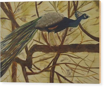 Out On A Limb Wood Print by Betty Pimm