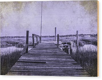 Out On The Pier  Wood Print by Steven  Taylor