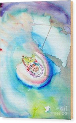 Wood Print featuring the painting Deep Blue by Mukta Gupta