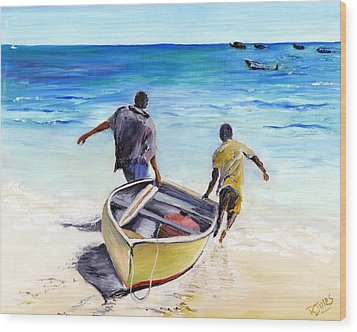Out To Sea Wood Print by Richard Jules