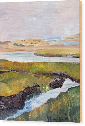 Wood Print featuring the painting Out To The Bay by Michael Helfen