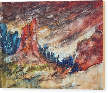 Out West Wood Print by Ron Stephens